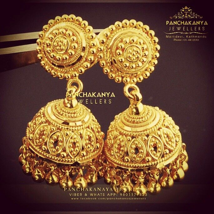 Jewelry Gold Jumka 22k Indian