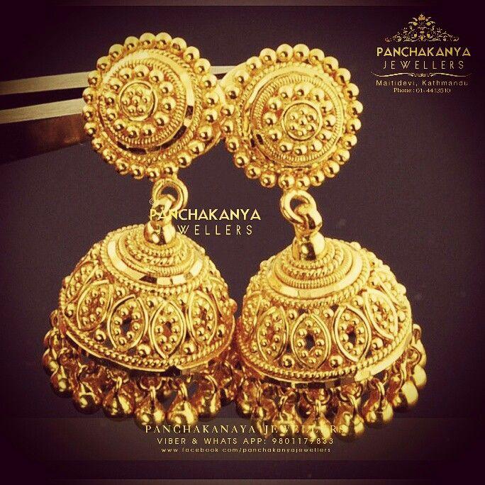 Gold Pijada Jhoomka 22k Jewelleries Nepali Jewellery Silver Instagram Wedding Collection