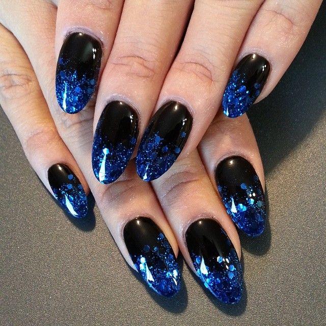 die besten 25 black and blue nails ideen auf pinterest nagelpflegeanleitungen n gel. Black Bedroom Furniture Sets. Home Design Ideas