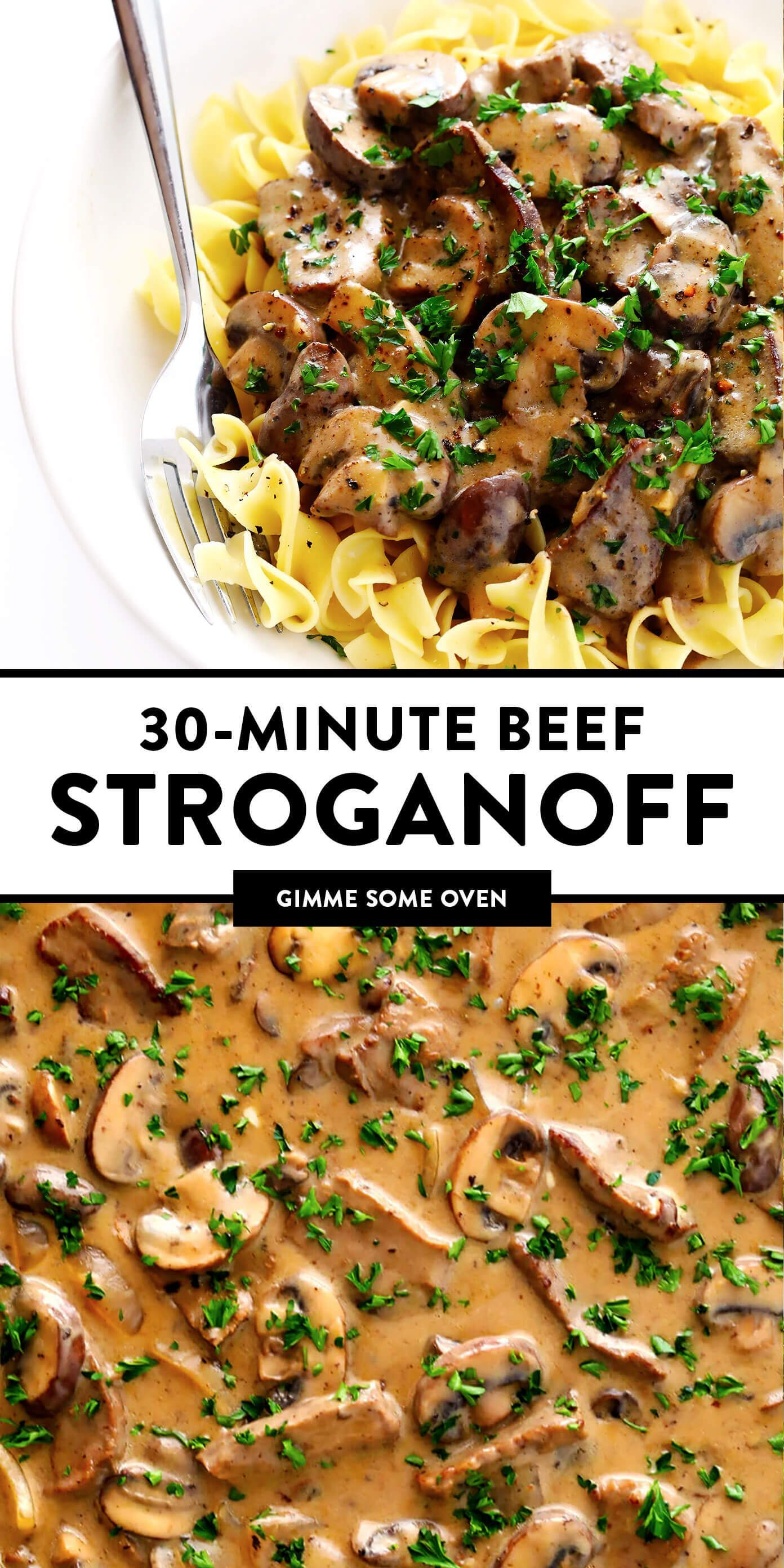The Best Beef Stroganoff Recipe Gimme Some Oven Recipe Stroganoff Recipe Beef Stroganoff Easy Best Beef Stroganoff