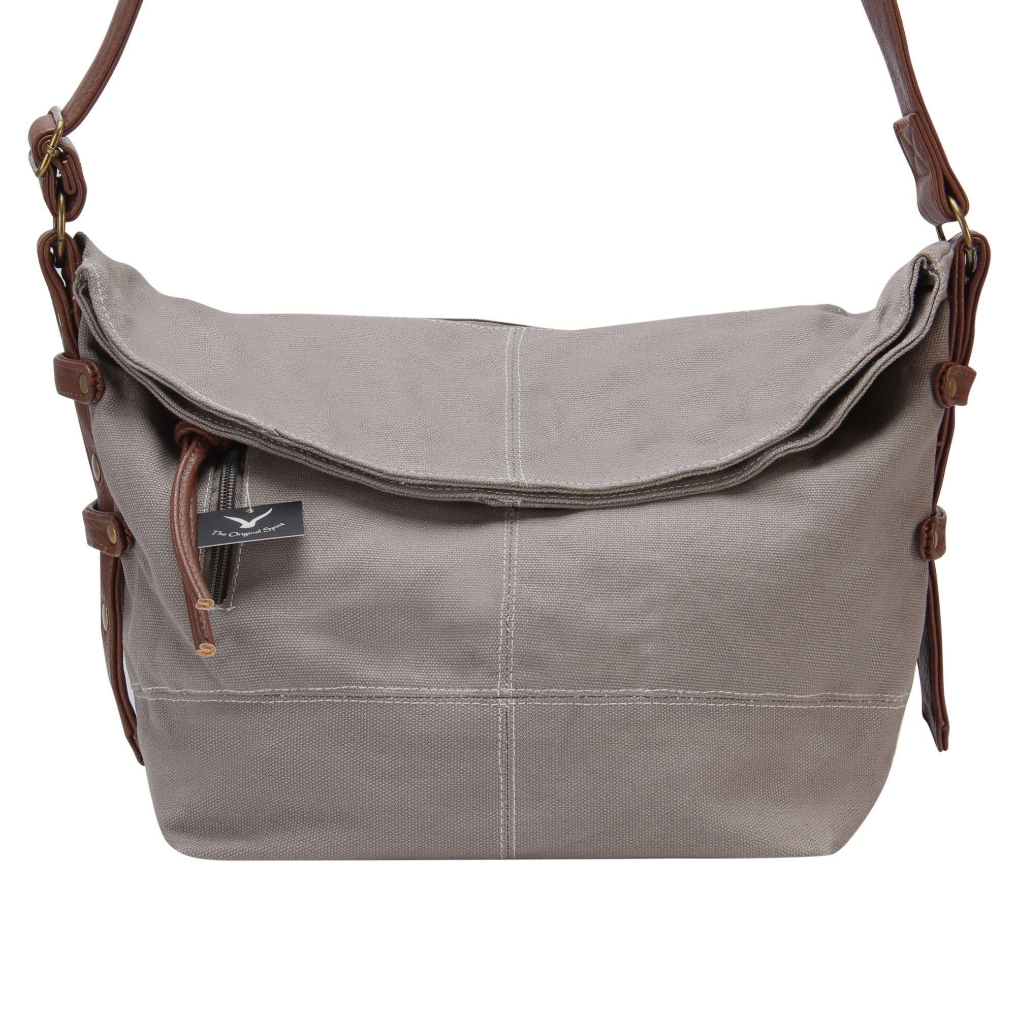 d443eec7ce Hynes Eagle Leisure Fashion Style Canvas Cross Body Tote Hobo Bag (Grey)
