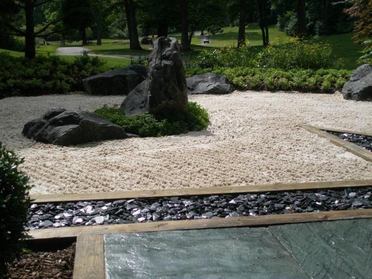 amenagement jardin avec sable