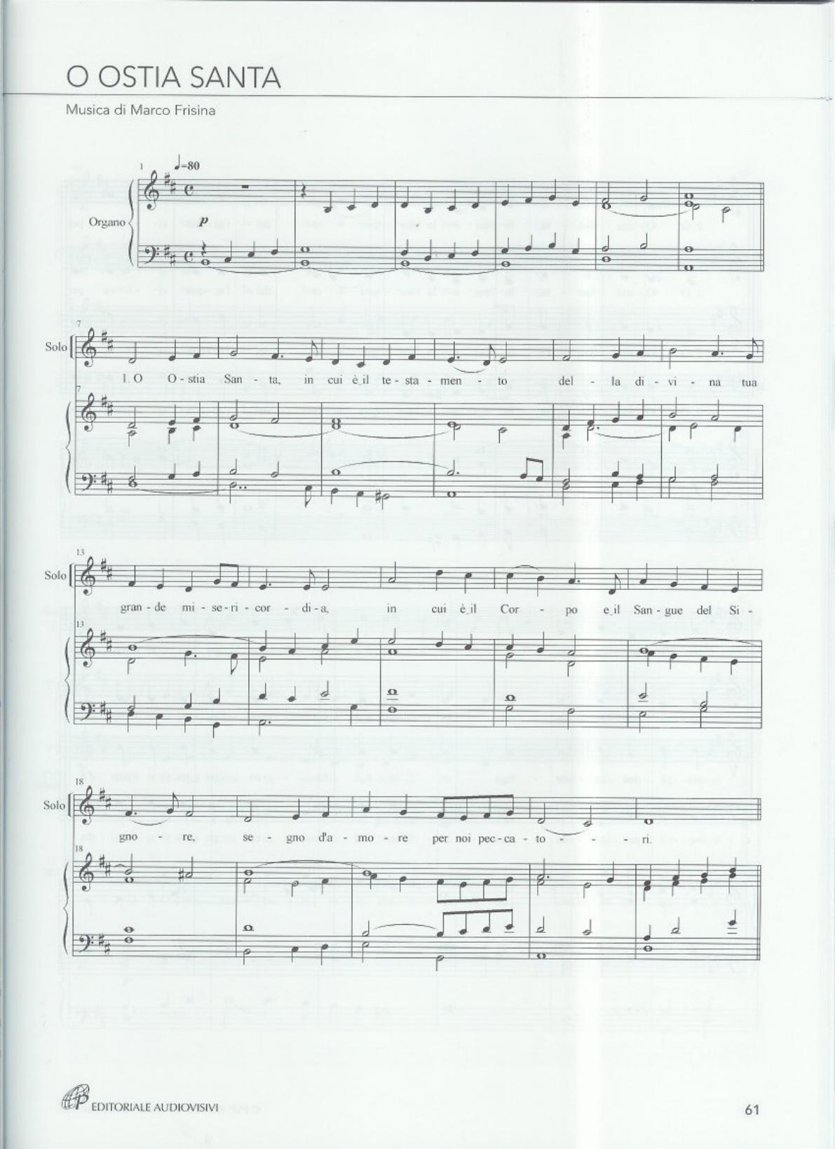 o ostia santa marco frisina spartito docslide com br music