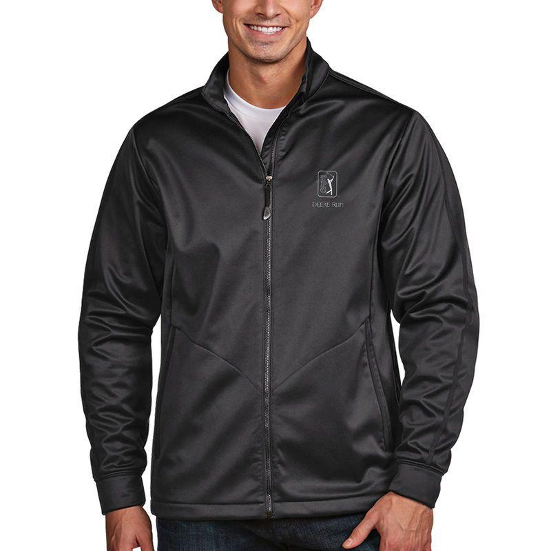 TPC Deere Run Antigua Golf Full Zip Jacket - Charcoal