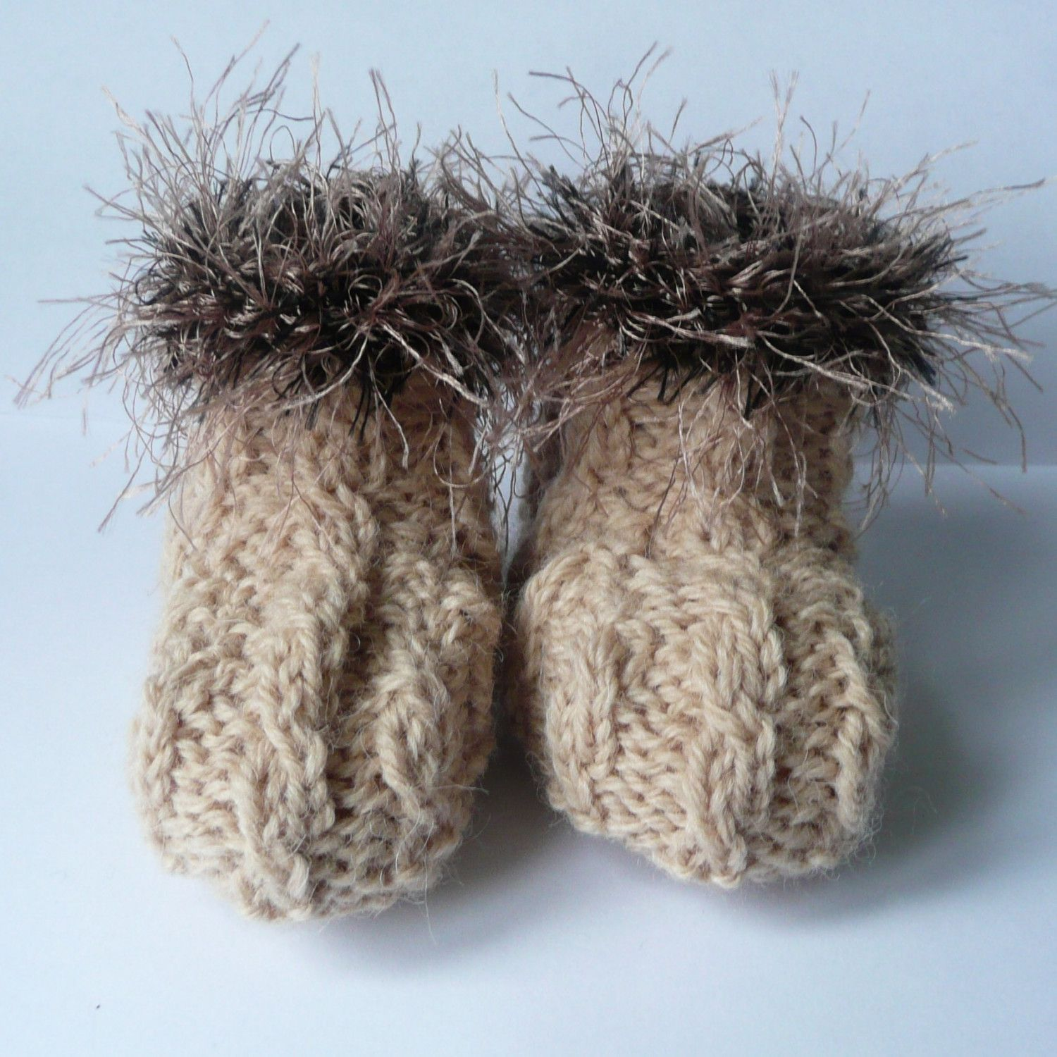 Knitting PATTERN BABY Booties Fabulously Furry Baby Boots. $4.00 ...