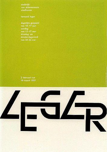 Wim Crouwel: Ferdand Léger poster, 1957
