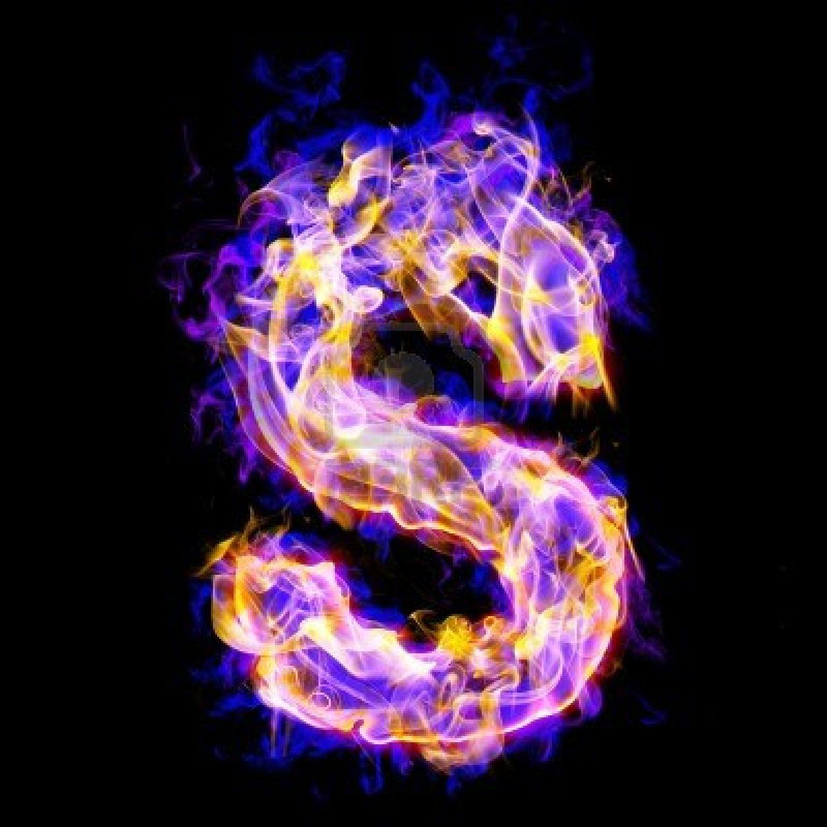 Letter S Burning With Blue And Pink Colors Lettering Alphabet Letter S Lettering