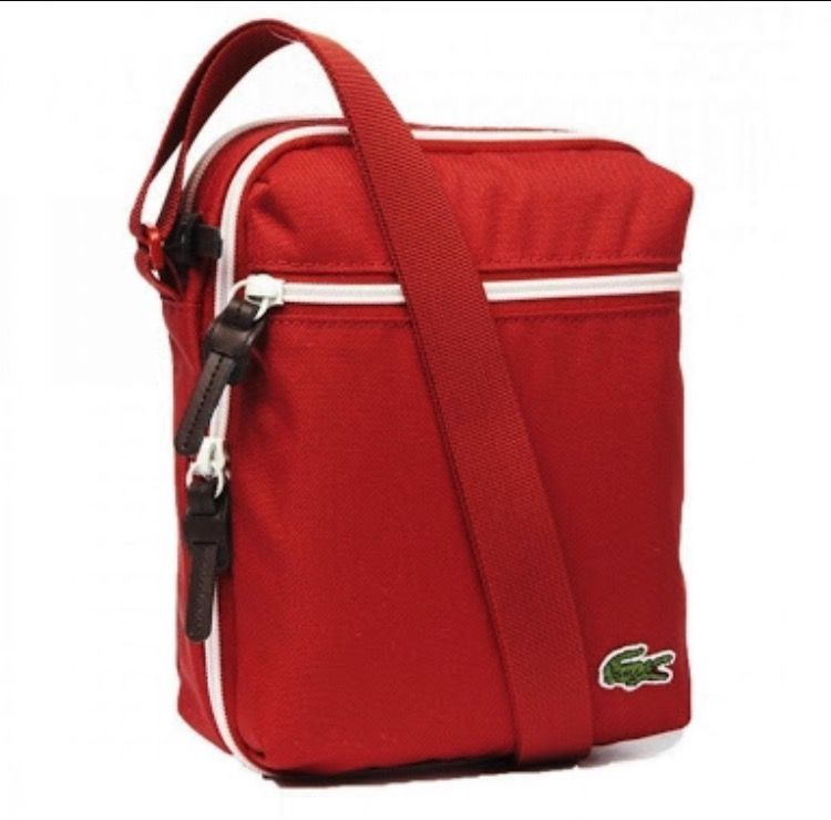 a8b6f70bb932 Lacoste Backcroc satchel Red bag Red Bags