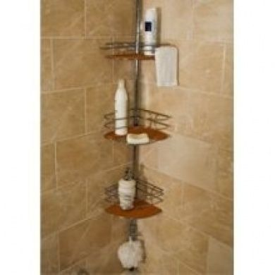 Better Bath 235BW Bamboo Tension Pole Shower Caddy