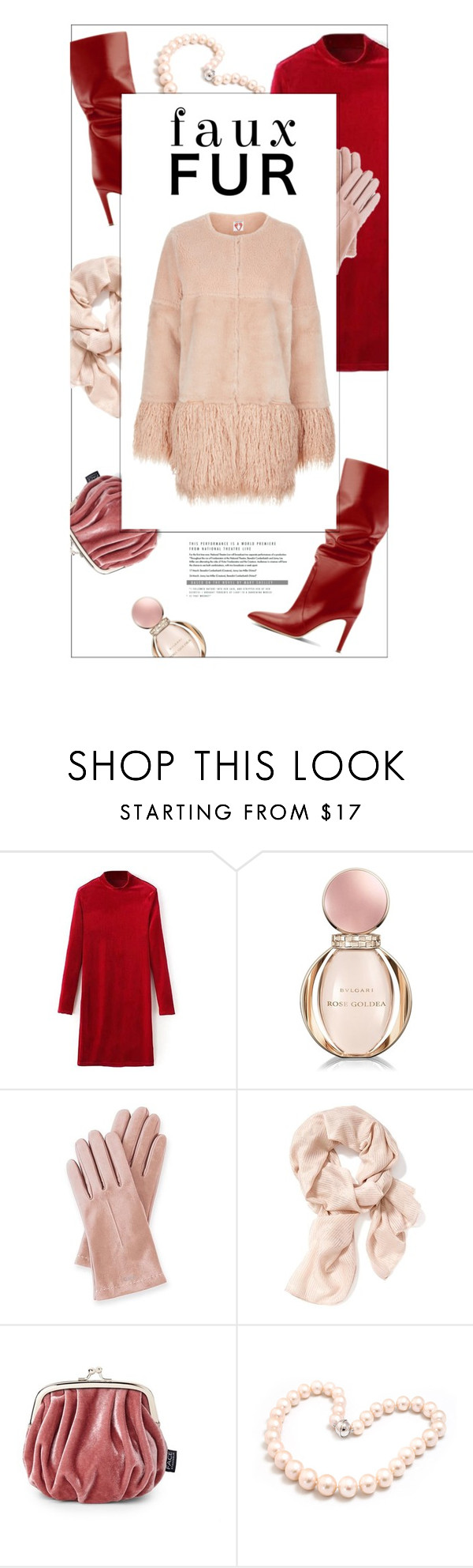 """#fauxfurcoats"" by vinograd24 ❤ liked on Polyvore featuring Bulgari, Mark & Graham, Old Navy, FACE Stockholm, Hiho Silver, Shrimps and fauxfurcoats"