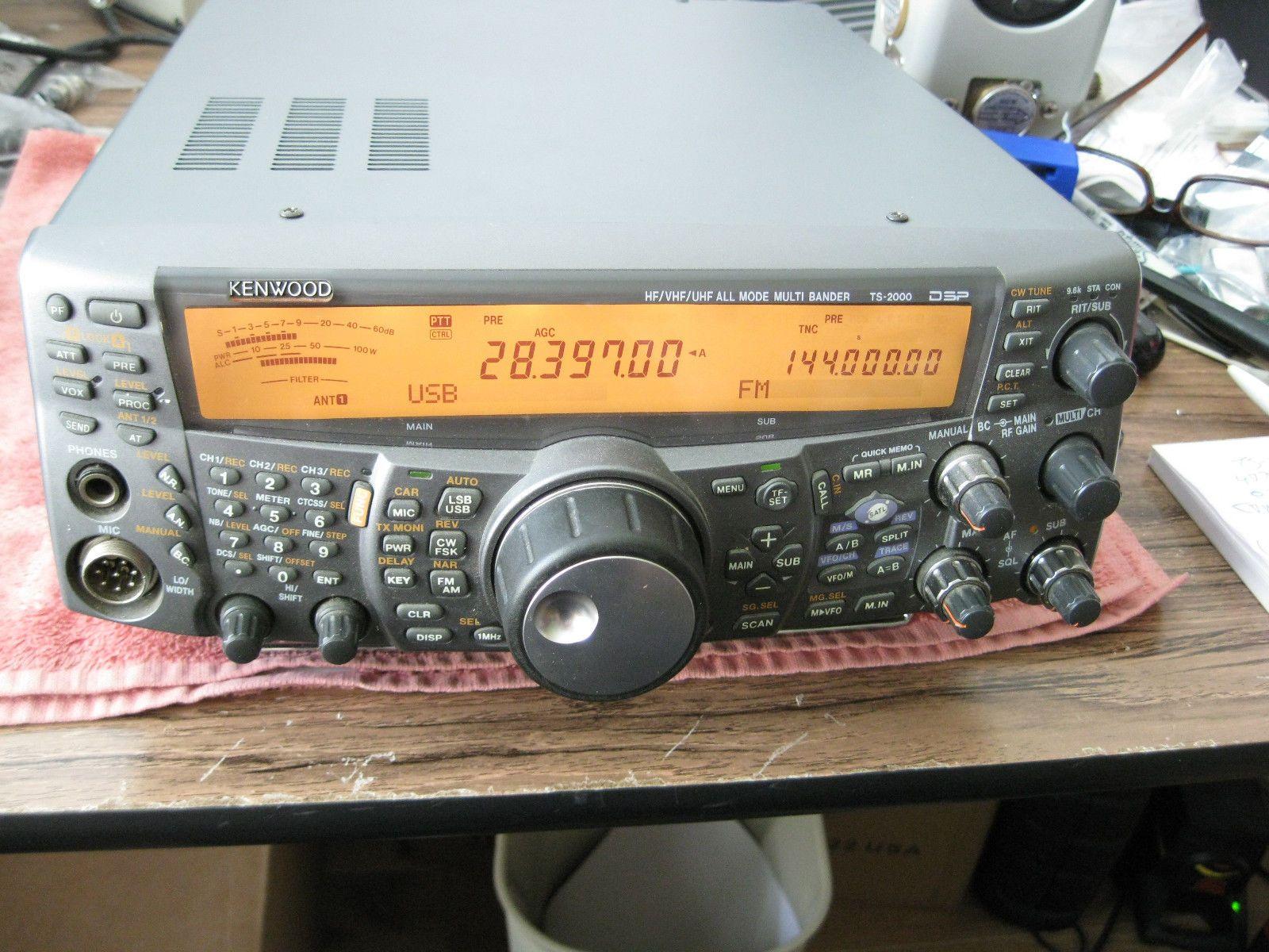Kenwood Ts 2000 Hf Vhf Uhf Sat Transceiver In Excellent Shape Ham Radio Ham Radio Equipment Kenwood