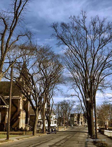 Street Scene Brockton Massachusetts 1940 December Mystic