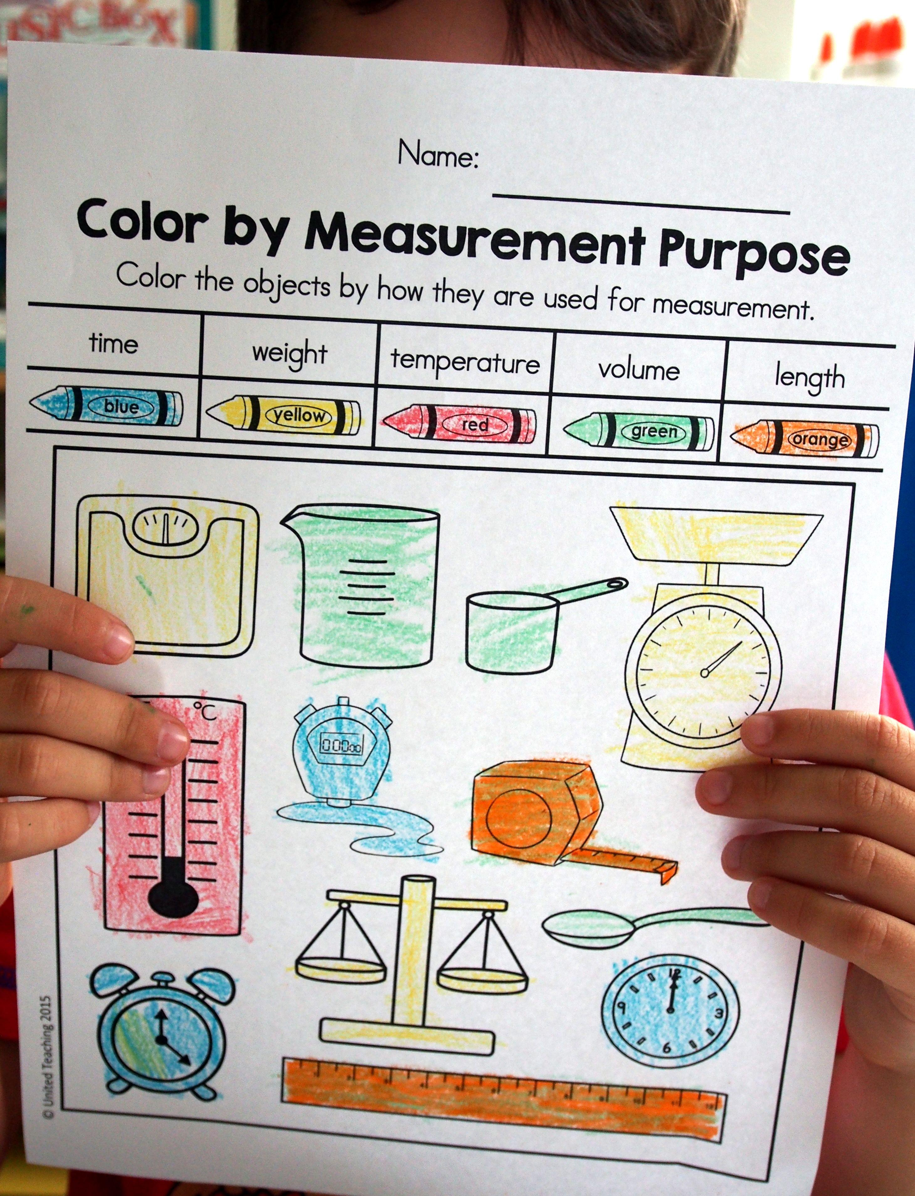 Spring Math Worksheets 1st Grade Distance Learning Measurement Tools Worksheet Spring Math Worksheets Math Measurement