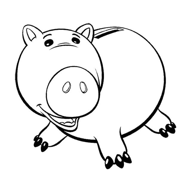 Toy Story Hamm Large Body Coloring Page