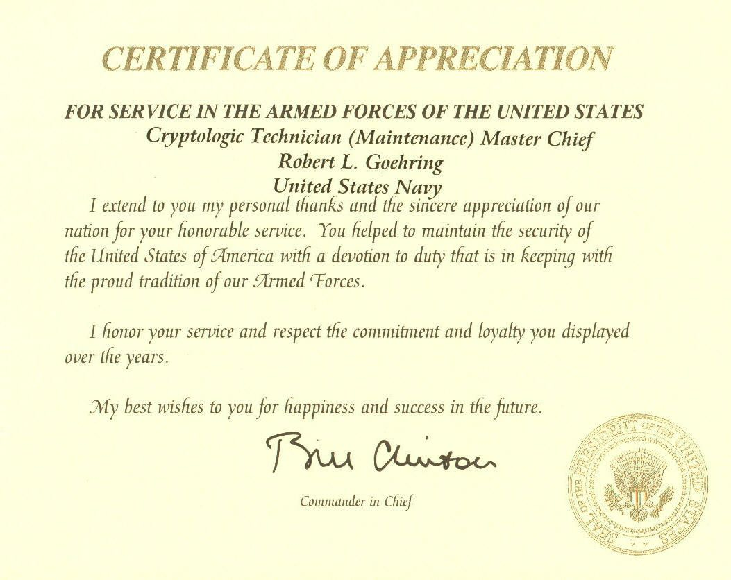 Pin by christina blevins on navy retirement pinterest for Air force certificate of appreciation template