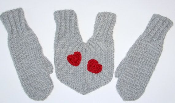 mittens for couples... so you can hold naked hands in the winter <3