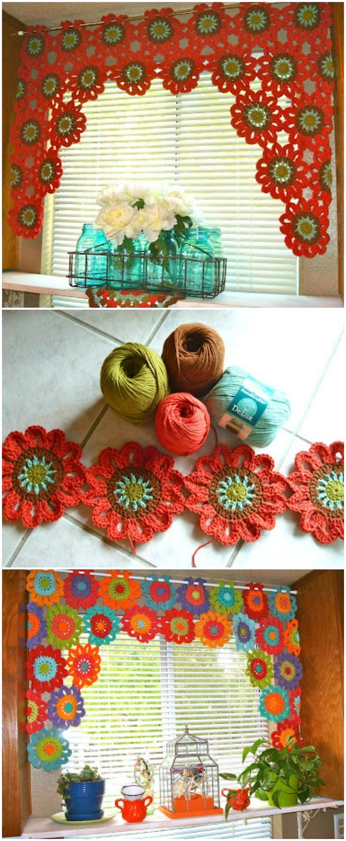 Easy crochet patterns is  very versatile project and can be so much fun diy crocheted valance also rh pinterest