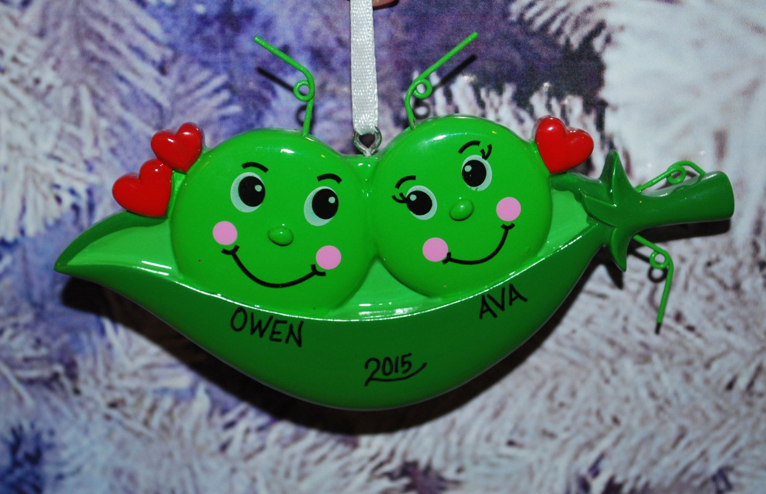Personalized Two Peas in a Pod Christmas by ...