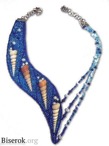 Голубая лагуна / Колье, бусы, ожерелья / Biserok.org