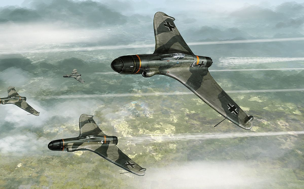Bassmen Dieselpunk Airplane Fighter Luftwaffe Planes
