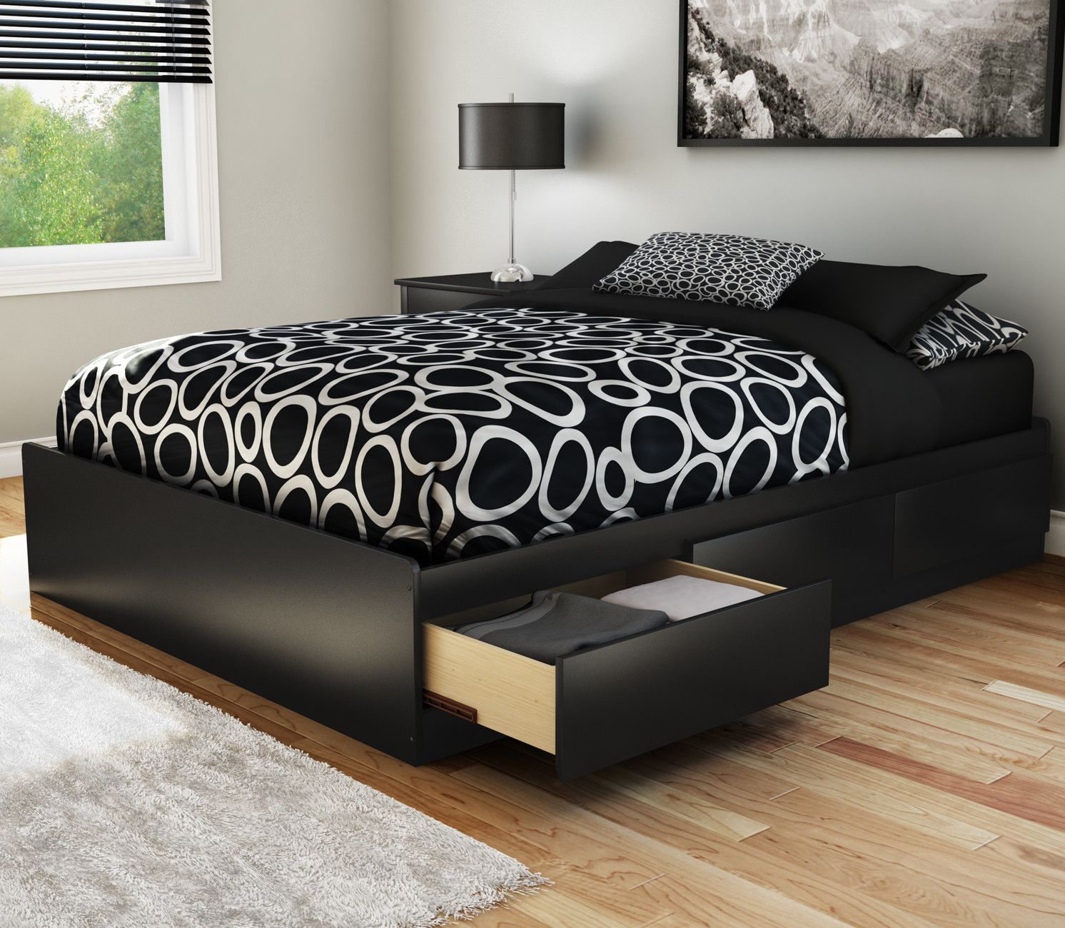 Step One Full/Double Storage Platform Bed | Accesorios para el hogar ...