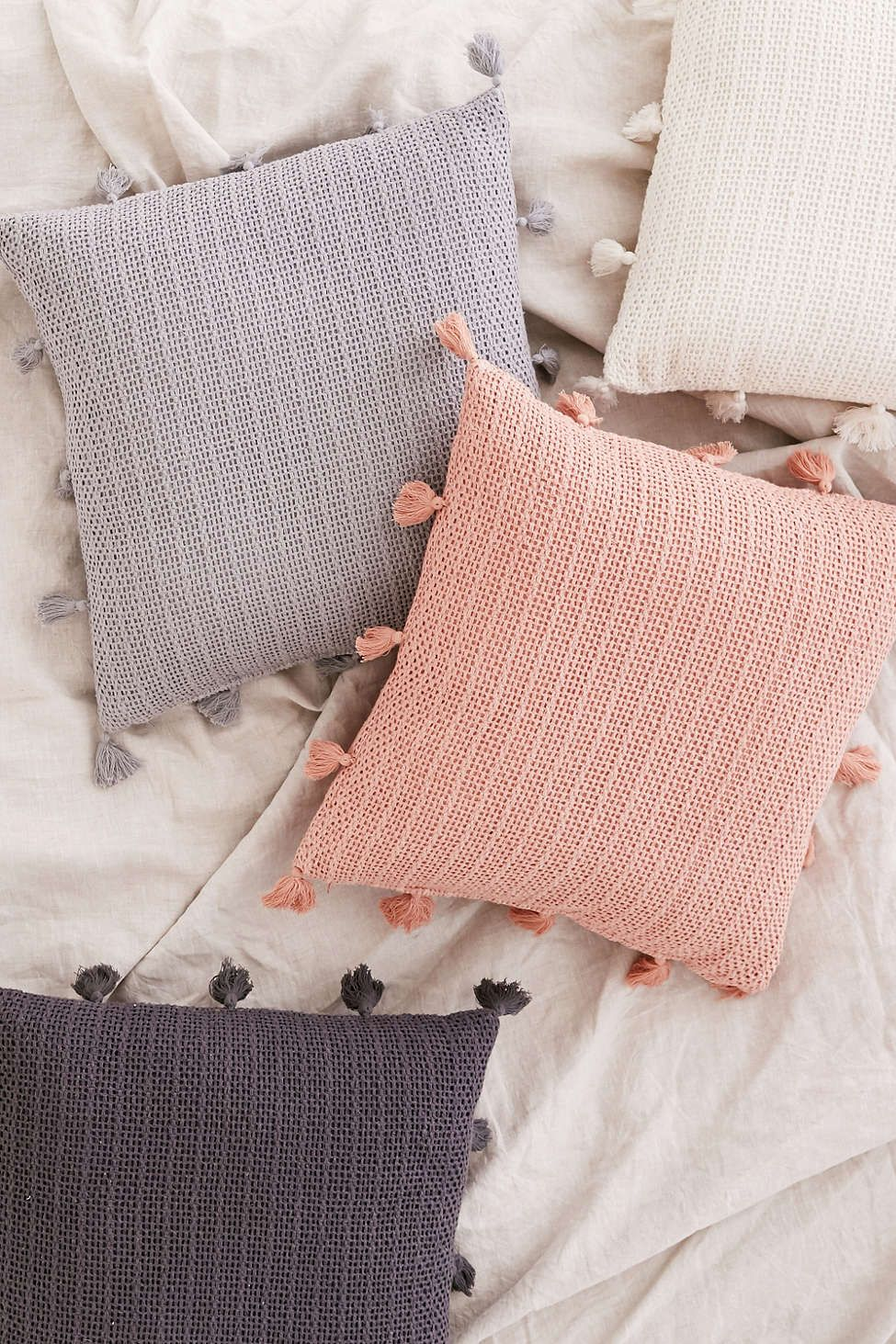 Sage Solid Crochet Pillow   Urban Outfitters