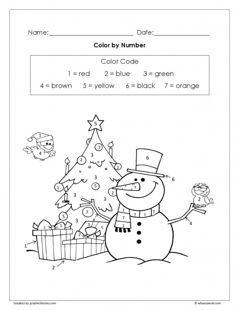 Fun Christmas Color by Number Freebie