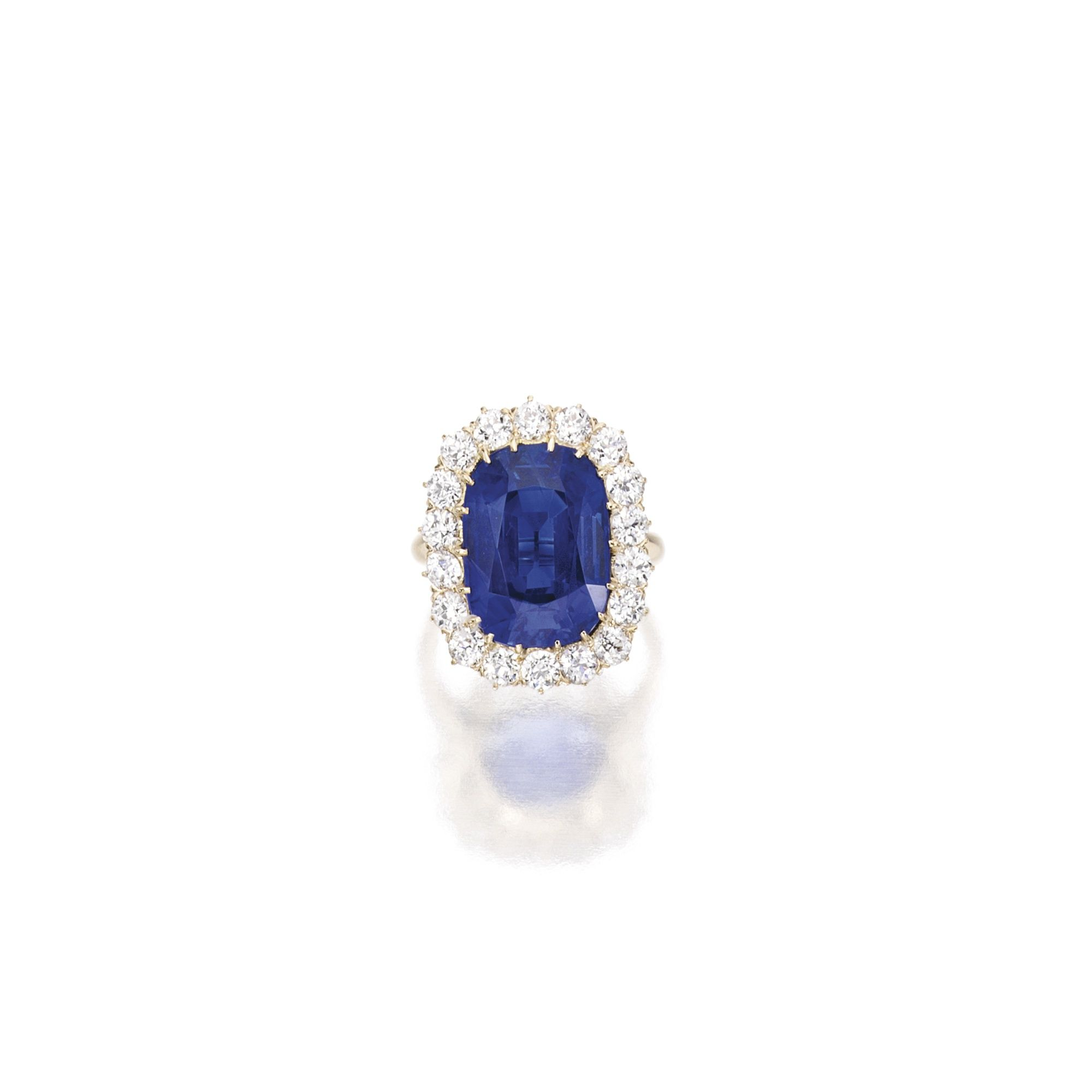 sapphire asprey cut side stone tiffany either oval pin with sold diamonds centre