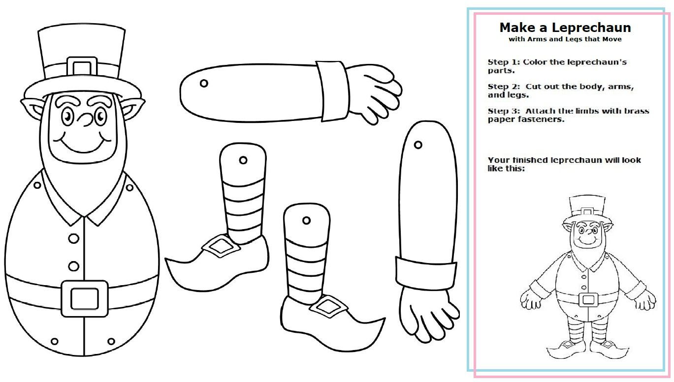 Make a St. Patrick\'s Day leprechaun with arms and legs that move ...