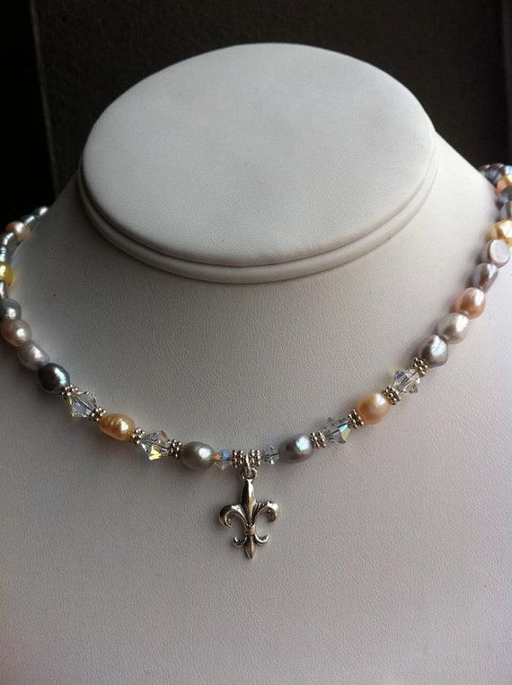 Fresh water pearl necklace by vmariejewelry on Etsy, $55.00