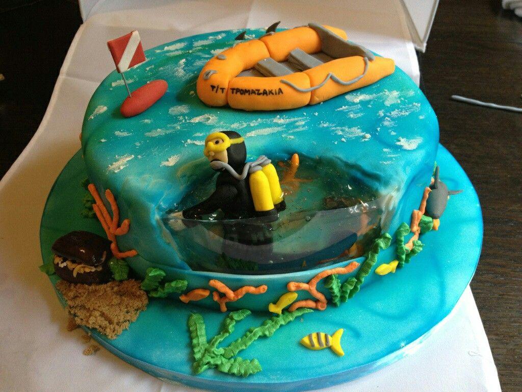 Scuba Diving Cake Cake Beach Amp Sandcastle Pinterest
