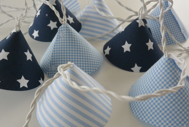 Kinderzimmerlampe Sterne ~ Lichterkette stern hellblau d blau extra lang