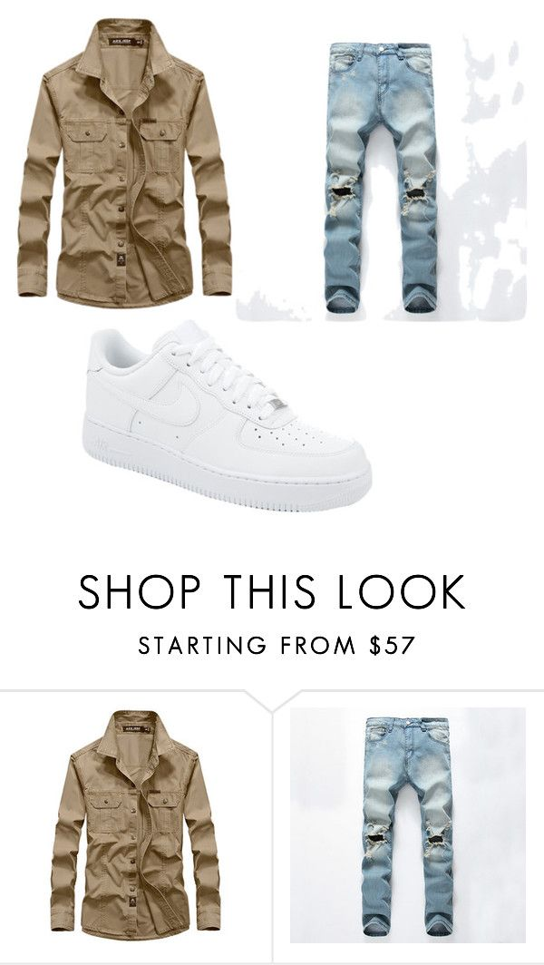 """Sin título #4"" by joaquin-cestona on Polyvore featuring NIKE, men's fashion y menswear"