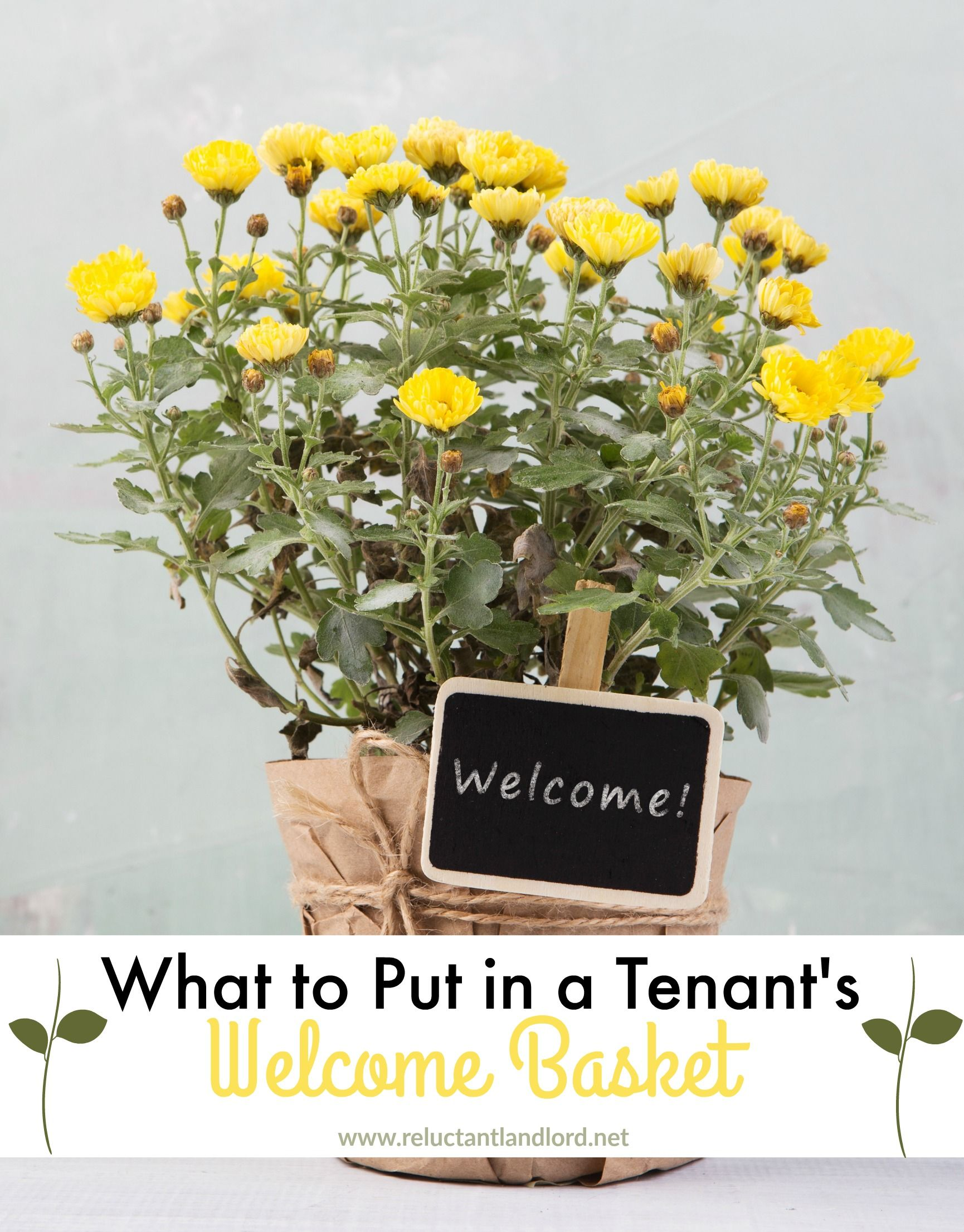 What To Put In A Tenant S Welcome Basket Welcome Baskets Welcome Home Gifts Tenant Gifts