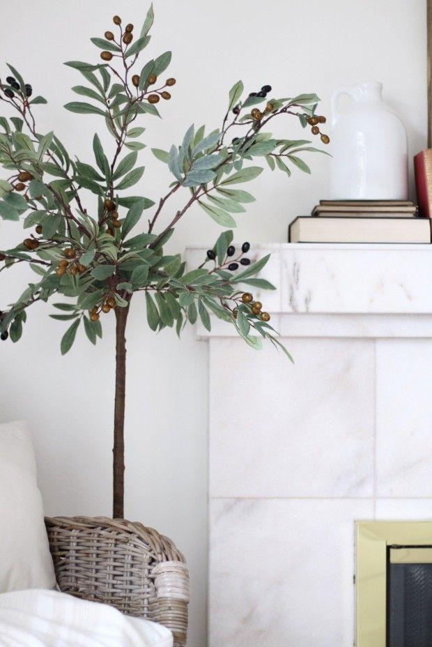 Diy Faux Olive Tree Faux Olive Tree Faux Plants Decor Fake Plants Decor