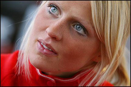 Norway Women Norwegian Cross Country Skier Therese Johaug She Won A Gold Medal People With Blue Eyes Blonde Bob With Bangs Blonde