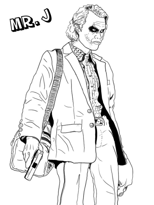 joker coloring pages coloring