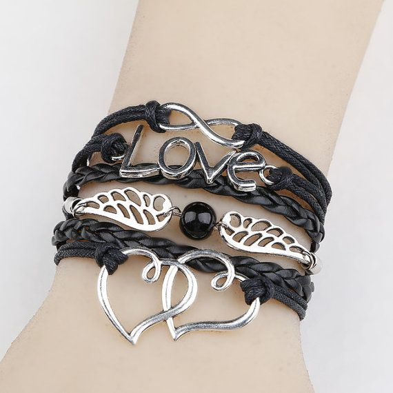 Friendship Bracelet, Leather Bracelet, Infinity, Heart, Pearl Bracelet, Sale, Expires Today.. Under $4 shipped