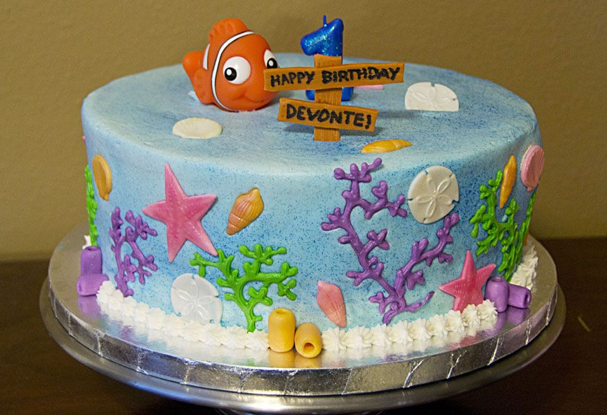 Finding Nemo Ocean Cake U Name It Creative Services