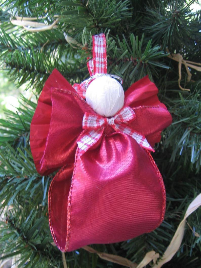 Decorative Fabric Ribbon Angel Ornament Christmas Angel Tree Etsy Fabric Decor Fabric Ribbon Angel Ornaments