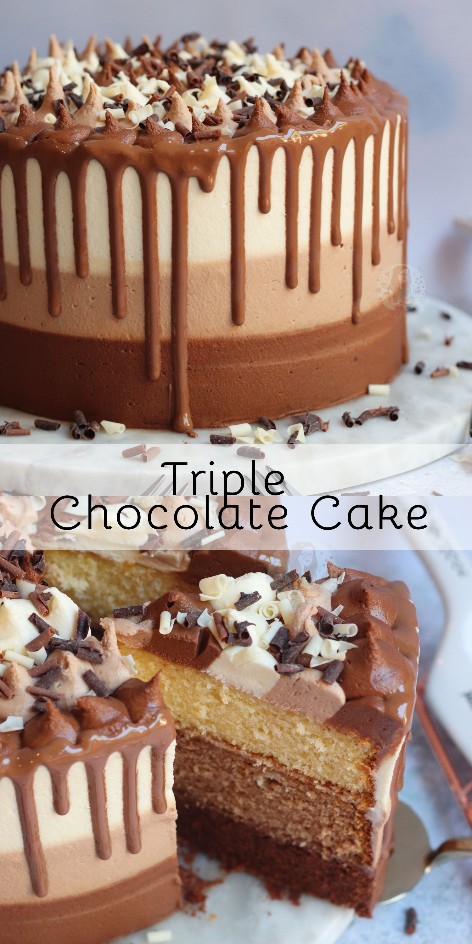 Triple Chocolate Cake! #chocolatecake