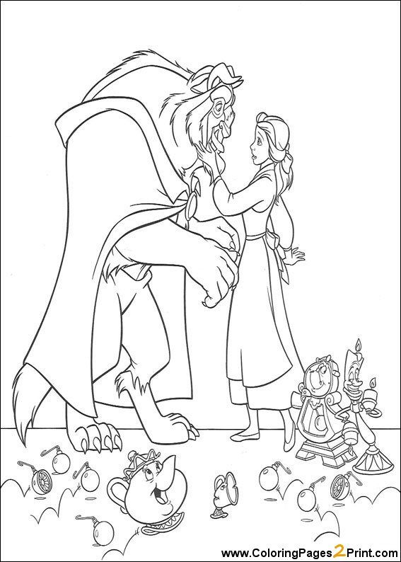 Free Disney Princess Beauty And The Beast Coloring Pages Printable For Kids