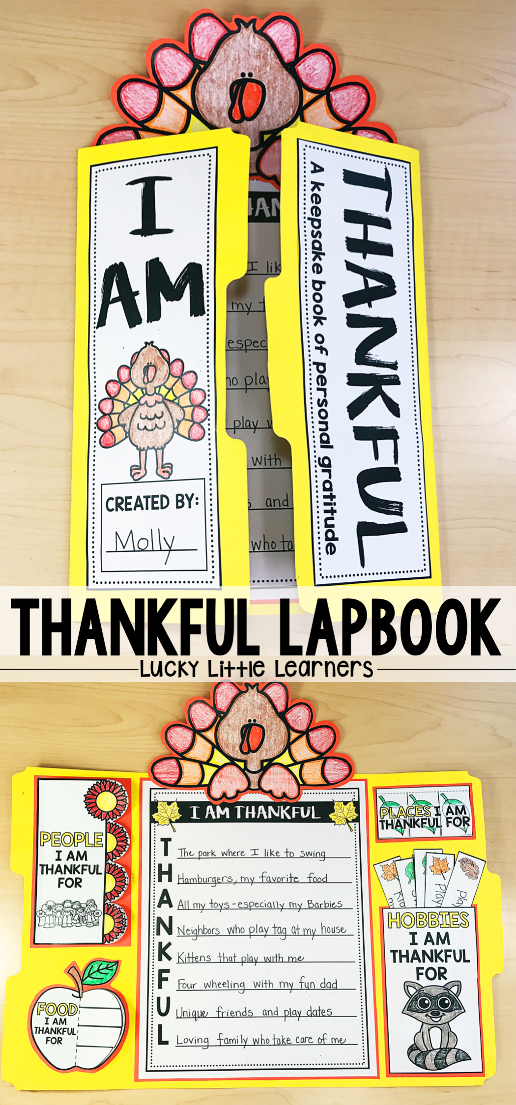 This Thankful Lapbook Is The Perfect Writing Project For