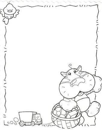 Resultado de imagen para imagenes de leones animados bordes paginas blanco y negro colegio - Cenefas para dibujar ...