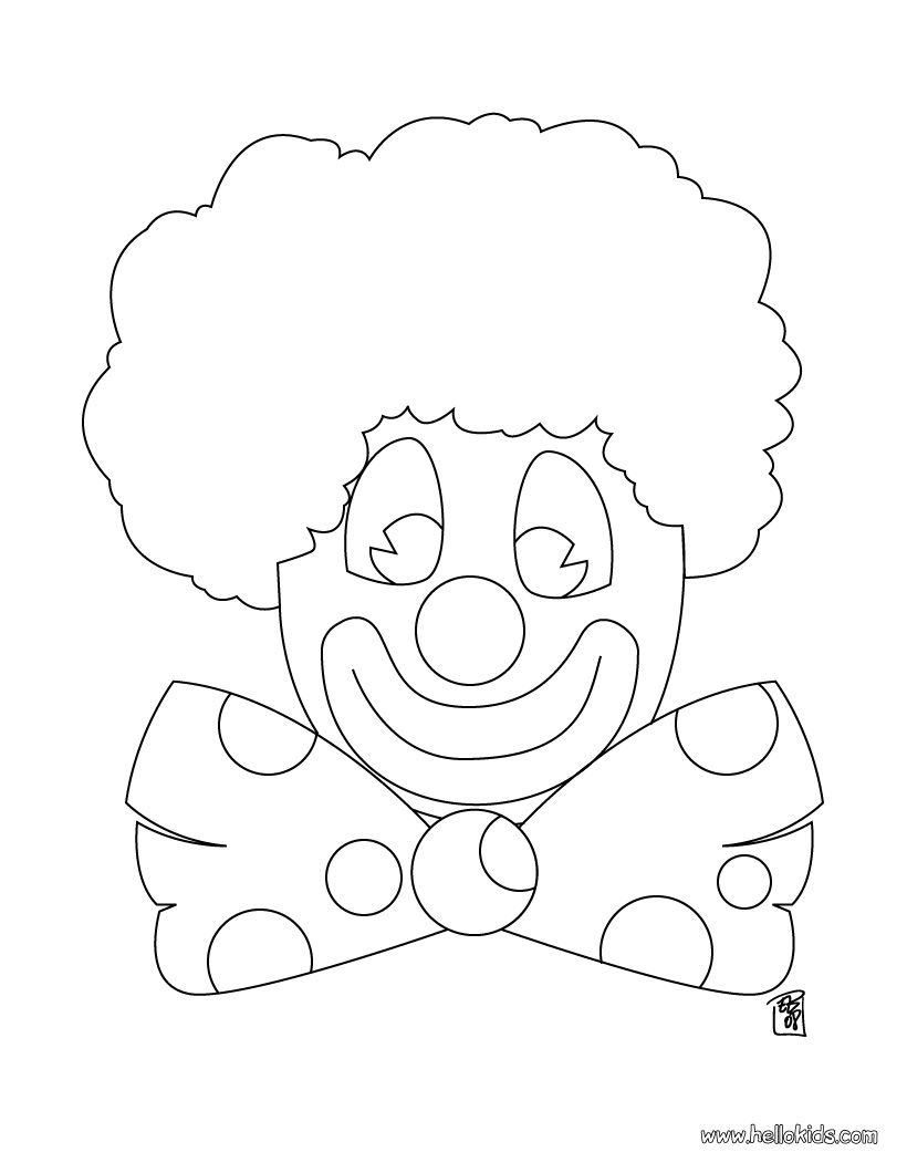 Clown coloring page | Circus Coloring Pages | Pinterest