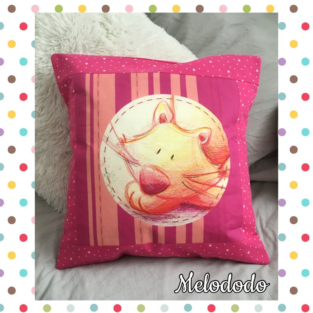 Coussin Chat avec coupon O'rana