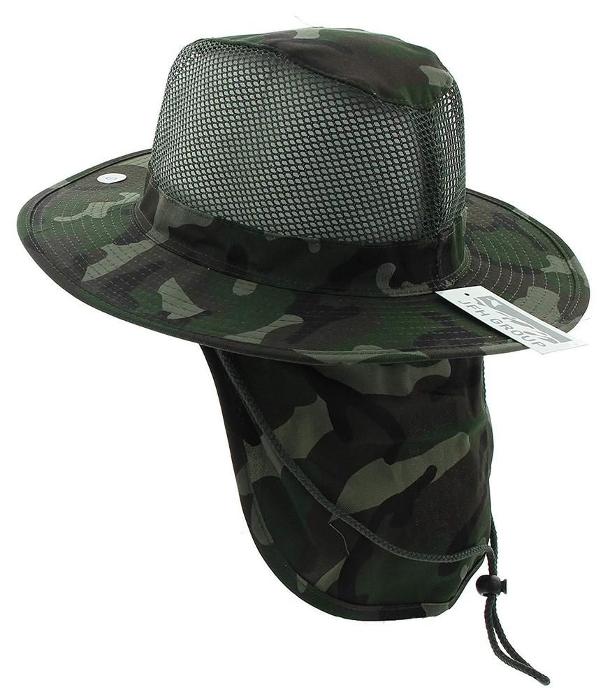 7d55accad44f6 Jfh Wide Brim Bora Booney Outdoor Safari Summer Hat W Neck Flap Sun  Protection