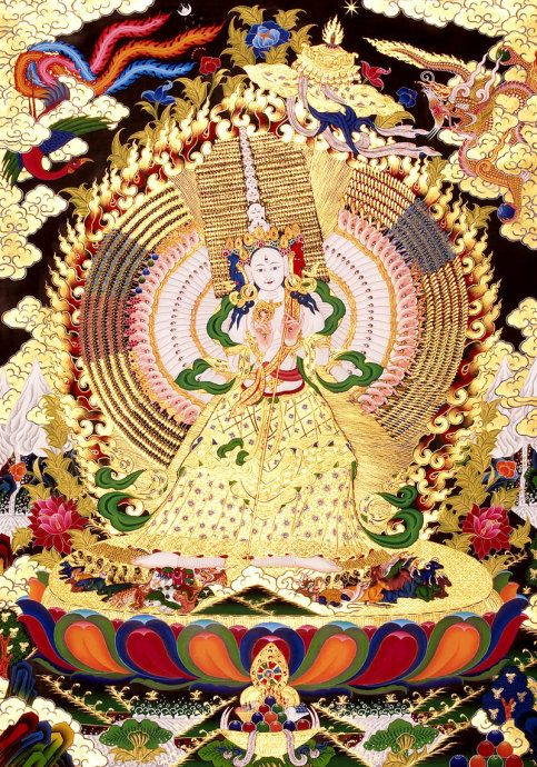 Sitatapatra Tárá1) 藏音版 (Tibet version) - hong-mama-hong-ni-soha  2) 梵音版 (sanskit version) - hum-mama-hum-ni-swaha