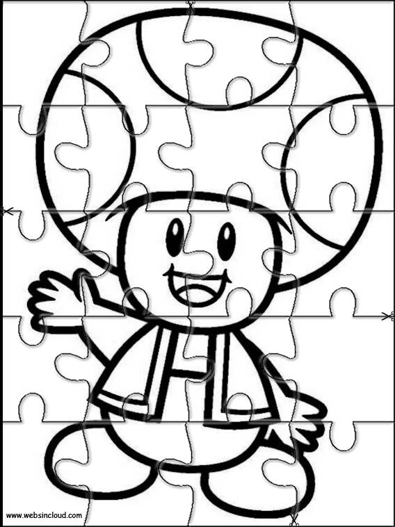 Printable jigsaw puzzles to cut out for kids Mario Bros 36