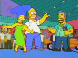 Homer and Marge win the dance contest